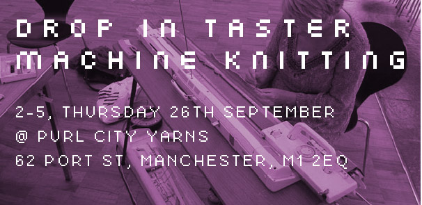 Drop-in Taster – Machine Knitting