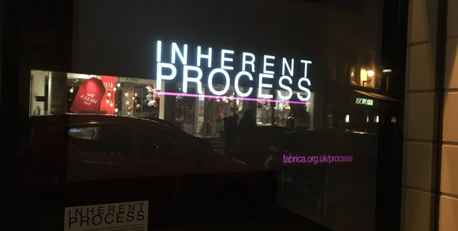 INHERENT PROCESS @ FABRICA GALLERY
